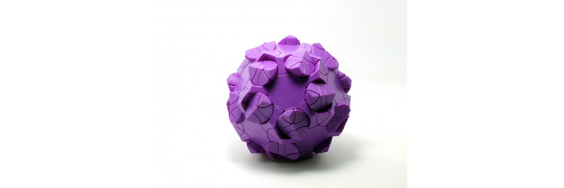 Clover Dodecahedron (Purple)