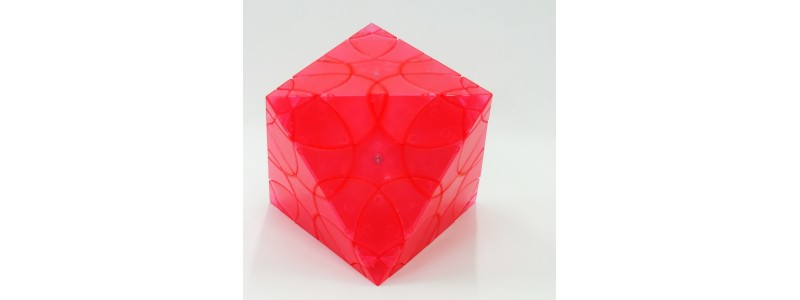 Clover Octahedron- watermelon red