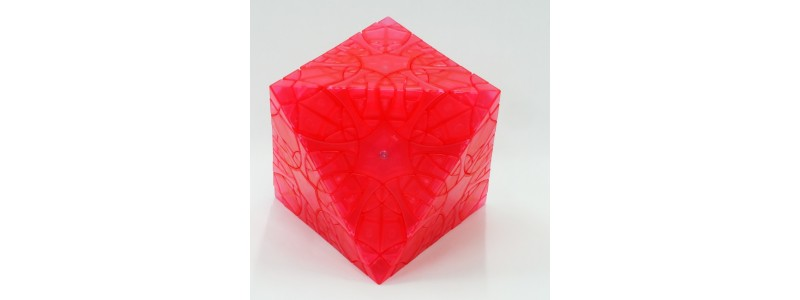 Clover Octahedron Fragmentation- watermelon red